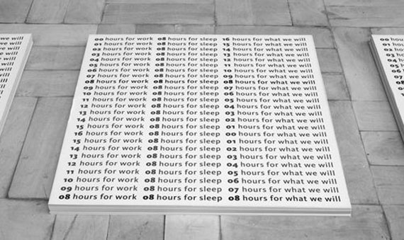 """Simon Gush""""Before the work stopped (1 & 2)""""2013jeweils 3 Poster60 x 60 cm"""