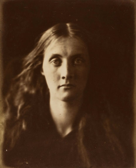 Lot 6Julia Margaret Cameron (1815-1879) Mrs Herbert Duckworth (Julia Jackson), 1867 Albumen print flush mounted to card mount, titled Mrs Duckworth' in pencil in unknown hand on mount recto27.7 x 22.7cm (10 7/8 x 9in) Cox and Ford, Julia Margaret Cameron: The Complete Photographs, 2003, pl.306, (p.220)£10,000 - £15,000