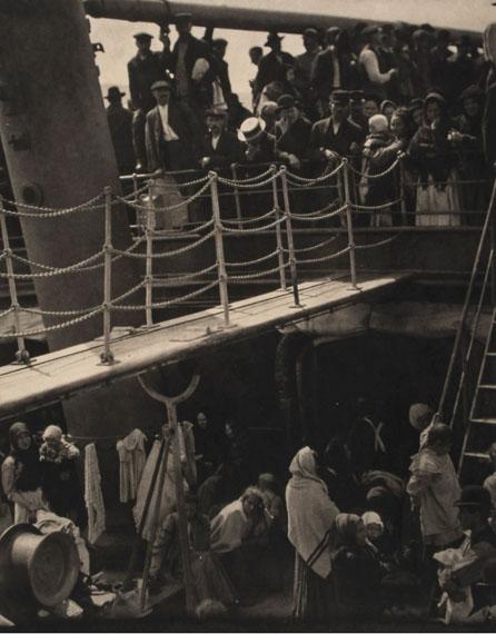 Lot 42 Alfred Stieglitz (1864-1946) The Steerage, 1907 Large format photogravure, printed ca.1915, flush mounted to vellum paper33 x 25.5cm (13 x 10in)Literature: Stieglitz, Camera Work 36 £6,000 - £8,000