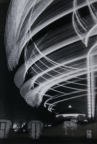 Toni Schneiders, KarussellDom Hamburg , Silver Gelatin Print, printed later 30,9 x 43 cm , 1950, verso stamped and signed , © Toni Schneiders Estate / Courtesy of Bernheimer Fine Art