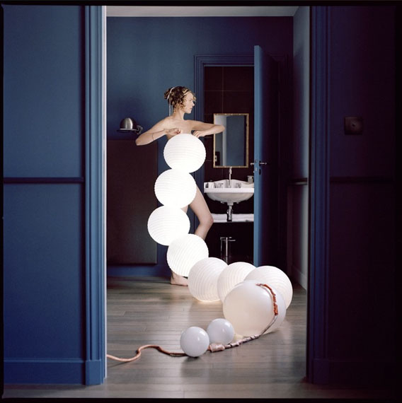 Elene UsdinJuliette with paper lanterns, 2010Archival pigment inkjet print, edition of 1050 x 50 cm / 19.7 x 19.7 in.Courtesy Galerie Esther Woerdehoff, Paris