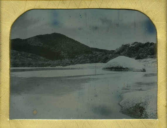 James Tylor: Gan garr, Guugu Yimithirr nation (Mount Cook National Park, Cooktown, Australia), 2015. Becquerel daguerreotype, 10 x 12.5cm. © James Tylor