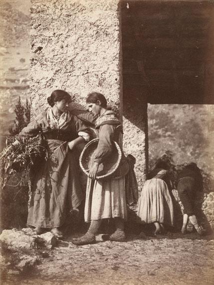 Filippo Belli (1836-1927)Genre scene in the Alban Hills, c. 1875Albumen print, 25.3 x 18.5 cm