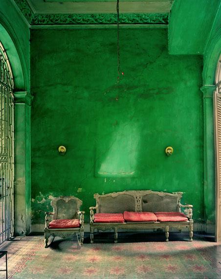 """Michael Eastman""""Green Interior"""" 2002Courtesy of Edwynn Houk Gallery, New York"""