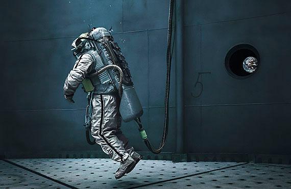 "Michael Najjar: ""liquid gravity"", 202 x 132 cm, Edition of 6"