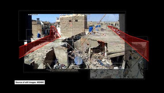 Image from Decoding video testimony, Miranshah, Pakistan, March 30, 2012 © Forensic Architecture in collaboration with SITU Research