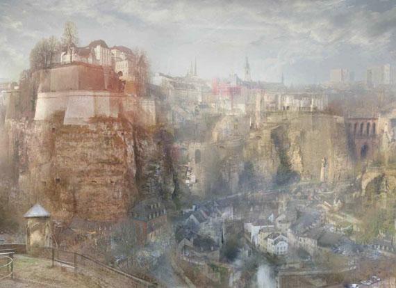 Hiroyuki Masuyma: Luxembourg South View, c.1839 / 2015, LED lightbox, 14 x 19 x 4 cm