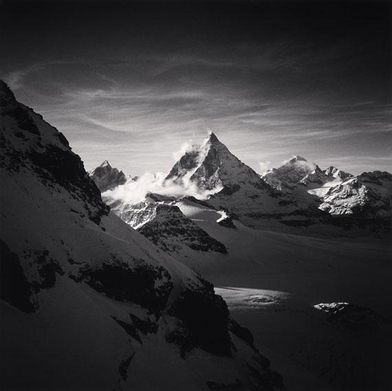 Micheal Kenna: The Matterhorn, Pennine Alps, Switzerland. 1994© Michael Kenna/ Courtesy of Bernheimer Fine Art