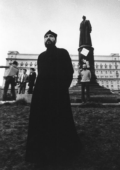 Vladimir Filonov. Meeting on Lubyanskaya square demanding to tear down Dzerzhinsky monument. 1991 22 August