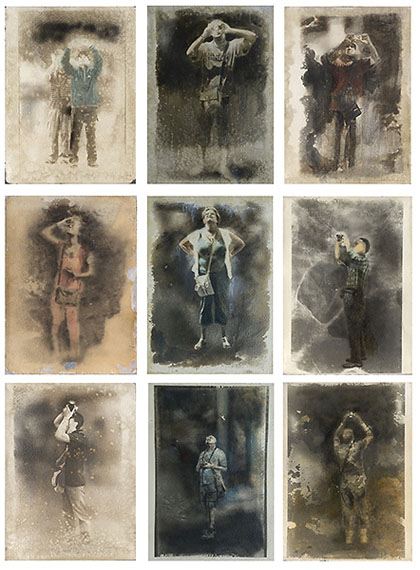 International Travelers (2010) Photography and mixed media (silver gelatin emulsion, varnish on Moulin paper) 76x56cm each.