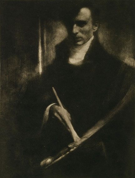 Edward Steichen: Self-portrait with Brush and Palette, 1901, Photogravure, Camera Work