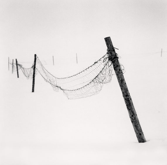 Inclined Posts, Lake Akan, Hokkaido, Japan. 2015 © Michael Kenna