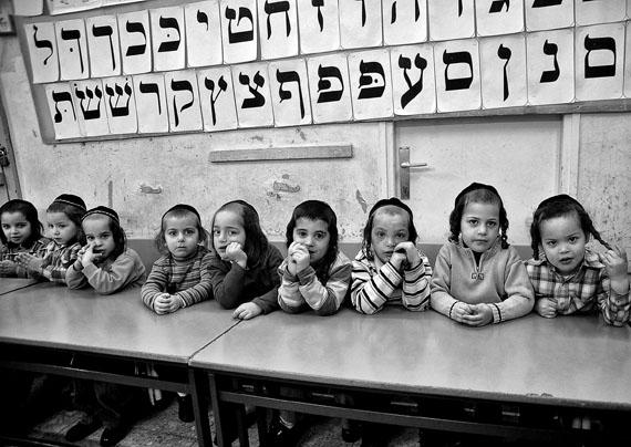 José Giribás: Kinder in der Yeshiva und Talmud Torah im Viertel Mea Shearim in Jerusalem am 20.03.2008