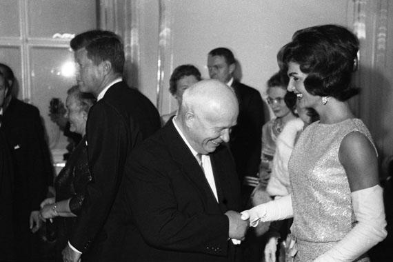 Mikhail Savin. Nikita Khrushchev and Jaqueline Kennedy in Vienna. 1961