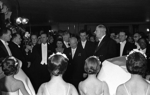 Mikhail Savin. Nikita Khrushchev and Charles de Gaulle at the Paris Opera. 1960