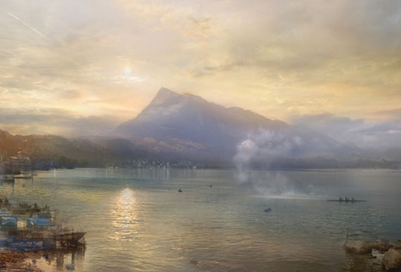 "Hiroyuki Masuyama: ""The Dark Rigi, 1842"", 2014, from the Joseph Mallord William Turner series, LED Lightbox, 30,5 x 45,5 x 4 cm"