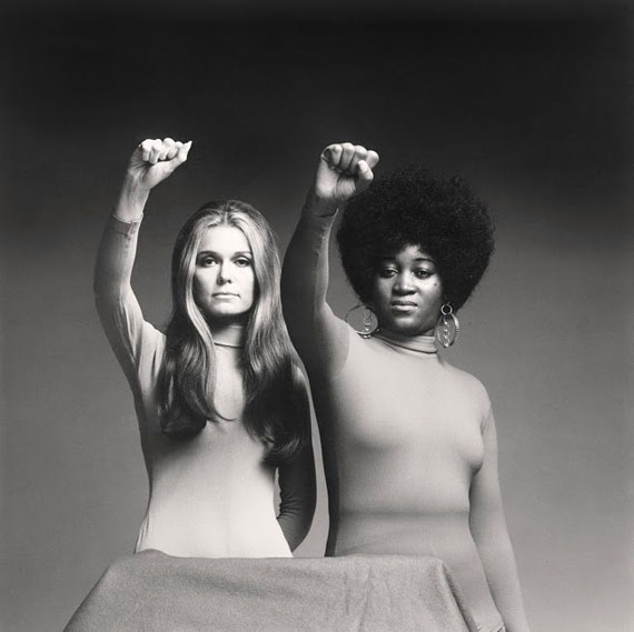 "Dan Wynn Archive, Gloria Steinem and Dorothy Pitman Hughes, 1971, 16""x 20"", Archival Pigment Print, Courtesy Lucie Foundation"