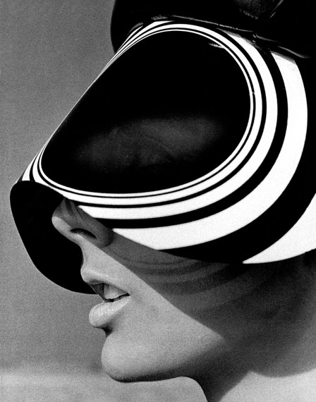 Tilly Tizzani with Acetate Visor, New York, 1966 © Hiro