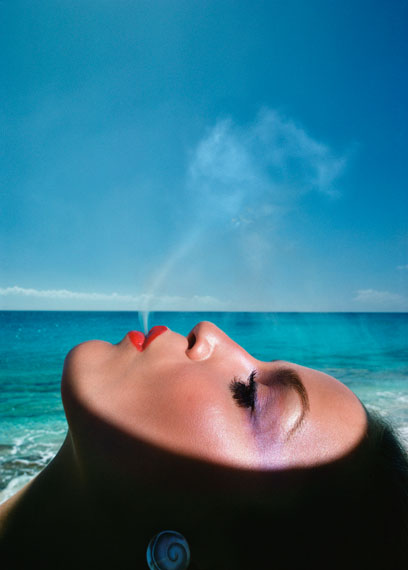 Jerry Hall, Saint Martin, French West Indies, 1975 © Hiro