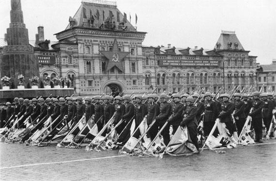 Mikhail Trahman. Victory parade, 1945