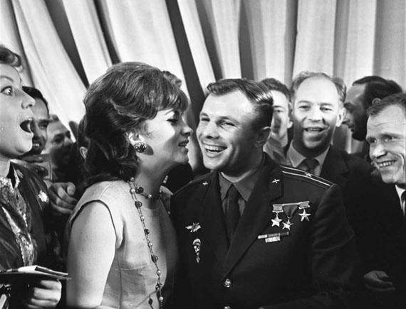 Miroslav Murazov. Gina Lollobrigida and Yuri Gagarin, 1960s