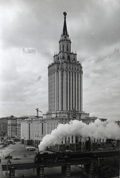 Naum Granovsky. Leningradskaya hotel. Train, 1960