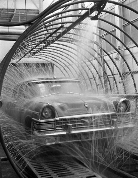 Valentin Khukhlaev. Car wash prior to launch, 1959