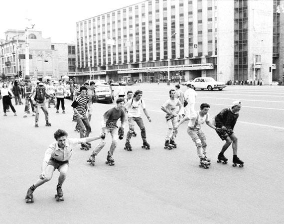 Valery Khristoforov. Roller skaters, 1990