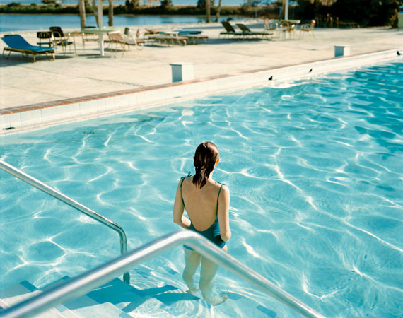 "Stephen Shore: Ginger Shore, Causeway Inn, Tampa, Florida, Nov. 17, 1977. From the series ""Uncommon Places""