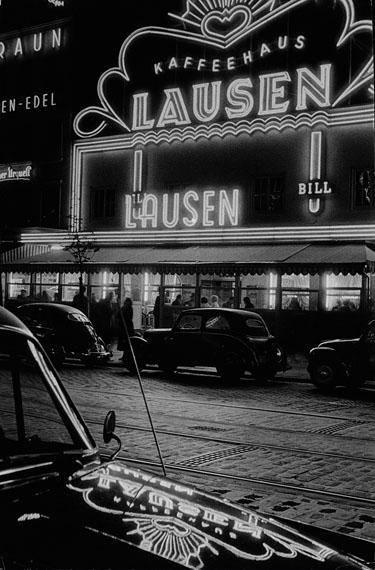 Herbert Dombrowski: Kaffeehaus Lausen, 1954