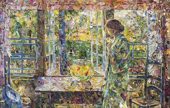 Vik MunizThe Goldfish Window, After Childe Hassam, 2013Courtesy Edwyn Houk gallery New York, Zurich