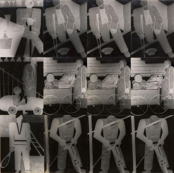 Alice Lex-Nerlinger: Reich und arm, 1930, Fotomontage