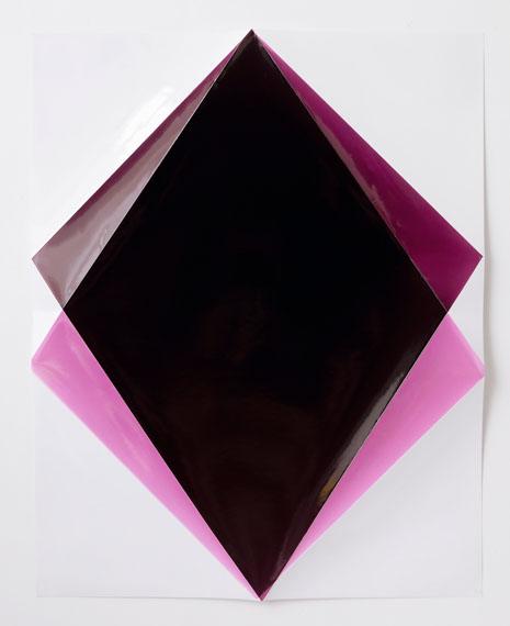 Stefanie Seufert: Falter, Dark Aubergine, Photogramm, 76 x 61 x 2 cm, 2014 © Stefanie Seufert