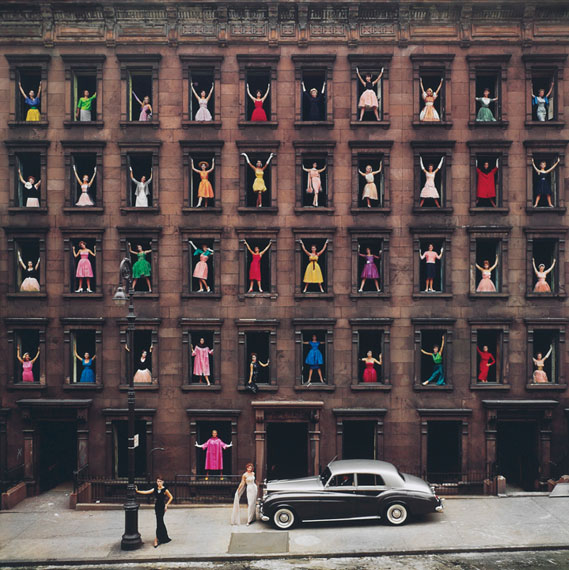 Lot 164 Ormond Gigli (B. 1925)Girls in the Windows, New York City, 1960archival pigment print, mounted on aluminum, printed latersigned, dated, numbered '20/75' in ink (margin); signed, titled, dated, numbered '20/75' in ink (verso)image/sheet: 51.3/4 x 50 in. (131.5 x 127.1 cm.)mount: 57.1/2 x 58 in. (146.1 x 147.4 cm.)$30,000-50,000