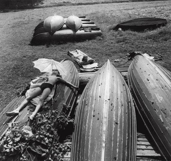 Antanas Sutkus. Holidays. Simas is Bathing in the Sun. Bebrusai. 1975