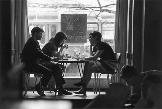 Andrey Knyazev. In a youth cafe, 1970s