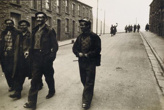 Robert Frank, Welsh Miners, silver print, 1951-53, printed circa 1970. Estimate $20,000 to $30,000.