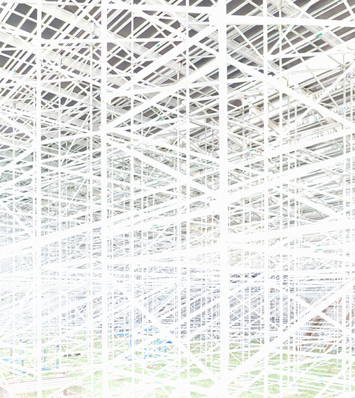 Andreas Gefeller: Andreas Gefeller: IP 18, from Blank, 2014, 150 x 136 cm, inkjet print, framed