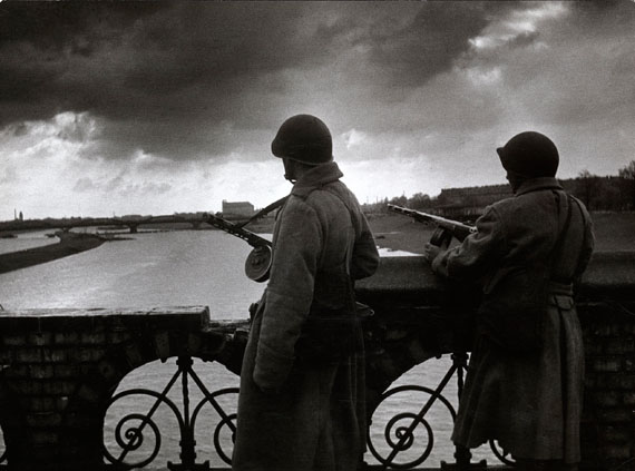 Dmitry Baltermants, All Quiet on the Oder River, gelatin silver print, photographed in 1945 and printed c. 1960s, 44 by 59 cm. Estimate: £1,000–1,500.