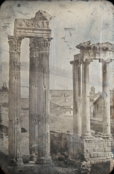 Joseph-Philibert Girault de PrangeyRome. The Temple of Vespasian and Titus and the Temple of Saturndaguerreotype, executed c. 1842, 18 by 12 cm.Estimate: £20,000–30,000