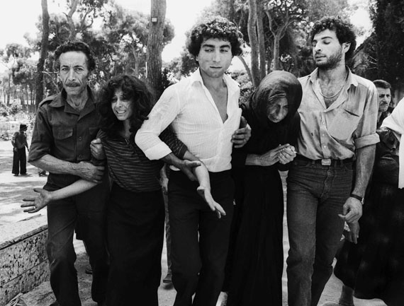 A lebanese family leaving the martyrs cemetery beirut 1982 © Don McCullin