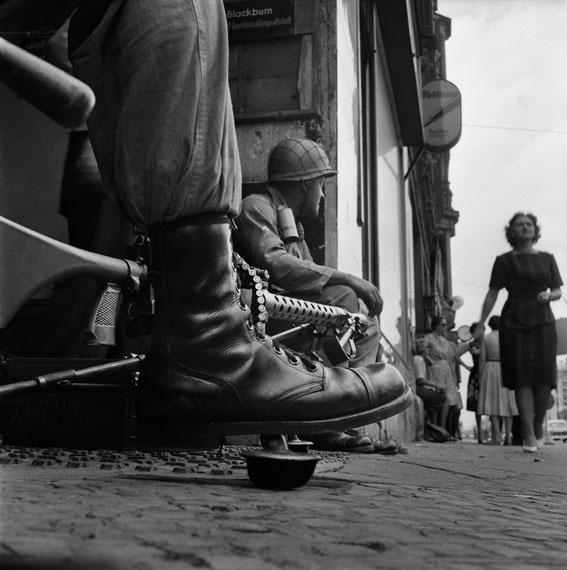 Don McCullin - Near Checkpoint Charlie, Berlin, 1961 © Don McCullin