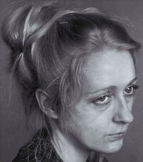 Craigie Horsfield - 'Carol X. Well Street, East London. March 1982.' 2015 108.5cms x 96cms' © Craigie Horsfield