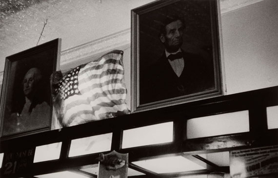 229. Robert Frank (1924) Bar. Detroit, 1955. Gelatin silver print, signed, titled and dated.