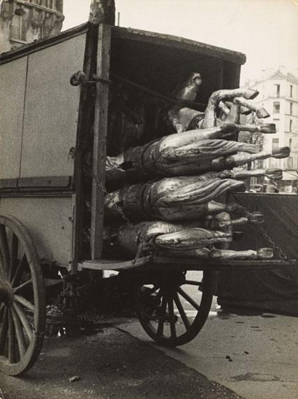 André Kertész, Chevaux de bois d'un carrousel démonté, Paris. 1929Vintage or early gelatin silver print. 23,8 × 17,9 cm (9 3/8 × 7 in [2017]Estimate € 20.000–25.000
