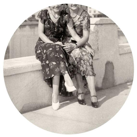 """Flowered Dresses, 2015. Archival inkjet print. 6"""" image on 10"""" paper© Kris Sanford, courtesy elizabeth houston gallery"""
