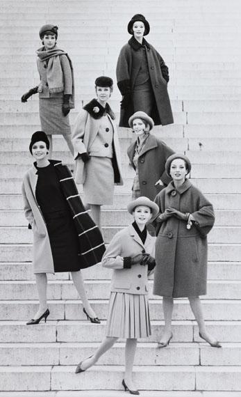 Regina Relang: Sieben Modelle in Berliner Mode, Berlin, 1961© Münchner Stadtmuseum Sammlung Fotografie Archiv Relang