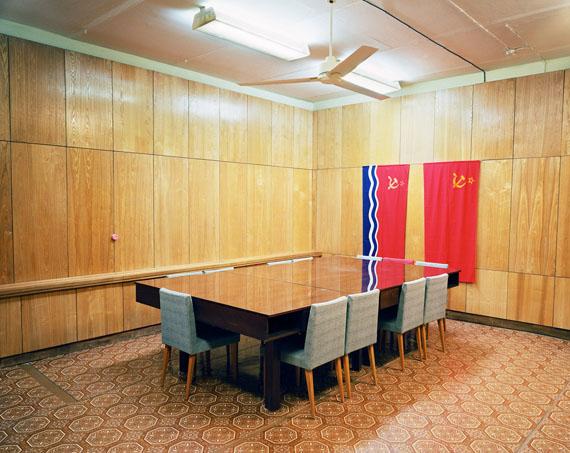 Lettland, Ligat, Konferenzraum in einem unterirdischen Atomschutzbunker, Ligat 2006© Martin Roemers