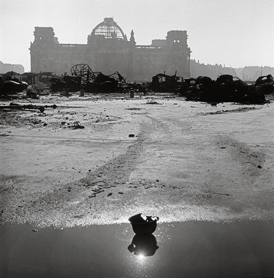 The Reichstag building. Berlin, Germany, 1946