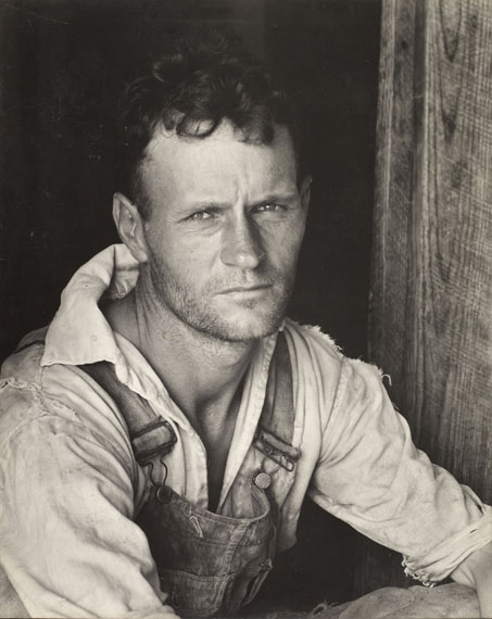 Walker Evans: Floyd Burroughs, cotton sharecropper, Hale County, Alabama. 1935 or 1936.